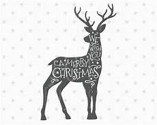 merry christmas svg christmas deer svg christmas svg deer etsy