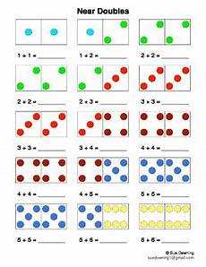 near doubles with dominoes sums of 2 to 20 by