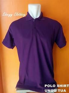 jual jual polo shirt ungu tua baju kaos kerah t shirt berkerah cowok pria ready stok di lapak