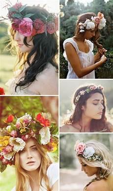 Blumenkranz Haare Echte Blumen - haarkranz f 252 r die hochzeit aus echten blumen