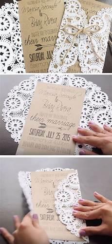 rustic doilies diy winter wedding invitations a