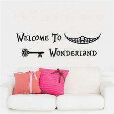 wall decals quotes in in wonderland wall decal ᗛ art