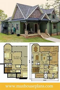 bungalow house plans with walkout basement small cottage plan with walkout basement lake house