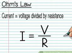 how to calculate voltage across a resistor with pictures