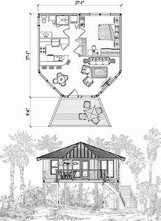 piling house plans piling house plan pge 0204 670 sq ft 1 bedrooms 1