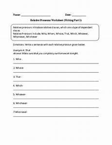 pronouns worksheets relative pronouns worksheets