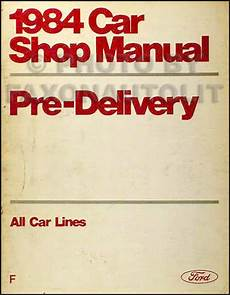 free car repair manuals 1984 lincoln continental seat position control 1984 lincoln maintenance and lubrication manual continental town car mark vii ebay