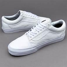 vans skool zip mens shoes perf leather true white