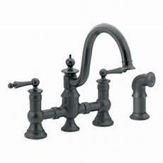 moen showhouse kitchen faucet moen showhouse s713wr waterhill two handle kitchen bridge faucet with matching side spray
