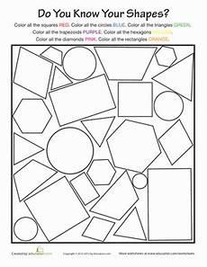 worksheets for shapes 1st grade basic shapes worksheet education com