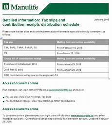 rrsp tax receipt manulife tax slips and contribution receipts