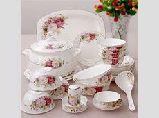 56 pieces bowl bone china dinnerware set quality porcelain