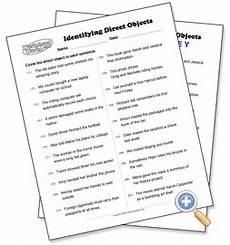 identifying direct objects worksheetworks com worksheets language arts pinterest