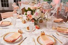 detail spotlight peach gold pink wedding table decorations gold wedding colors apricot