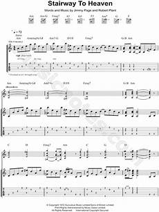 led zeppelin quot stairway to heaven quot guitar tab in a minor