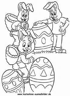 Osterhase Ausmalbild Drucken Ausmalbilder Viele Osterhasen Mit Ostereiern Ausdrucken