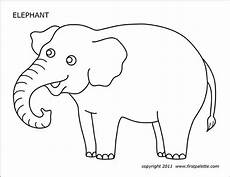 elephant free printable templates coloring pages