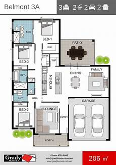 house plans townsville belmont 3 floor plan grady homes townsville builder