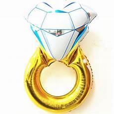 h1065 80 50cm large diamond ring shape foil balloons for i love you party metallized ballon