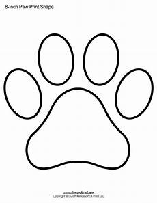 paw print coloring page paw print template shapes blank