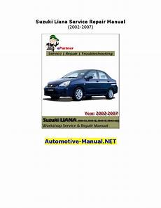 suzuki liana service repair manual 2002 2007