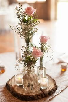 deco centre de table mariage centre de table rondin de bois