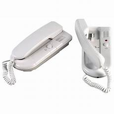 2 two station telephone style intercom system 2 way