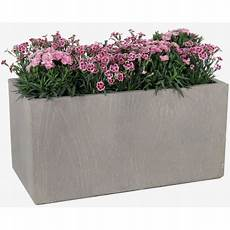 jardini 232 re en fibre de terre 60x30xh 30cm effet bois gris 233