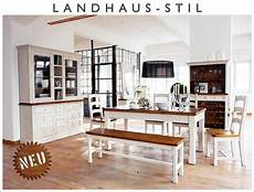 Esszimmer Weiß Landhausstil - neu 11 tlg esszimmer set landhausstil massiv wei 223
