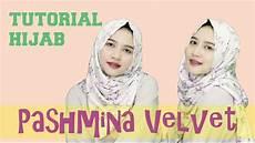 Tutorial Pashmina Velvet Simple Untuk Sehari