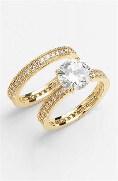 ariella collection engagement wedding rings in gold lyst
