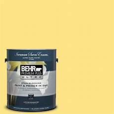 behr premium plus ultra 1 gal 380b 4 daffodil yellow satin enamel interior paint 775401 the