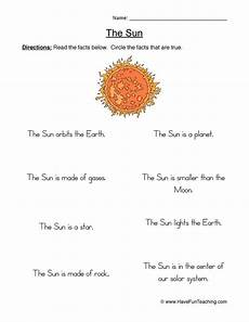facts about the sun worksheet facts about the sun for preschoolers sun facts 17 png imag