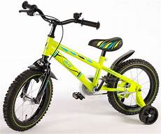 Volare Electric Green 14 Inch Boys Bicycle 95 Assembled