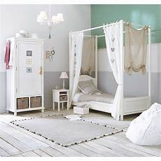 letto a baldacchino bianco letto bianco a baldacchino in legno 90 x 190 cm manosque