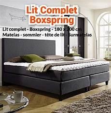 Nouveaut 233 Lit Complet Boxspring 180 X 200 Matelas N1