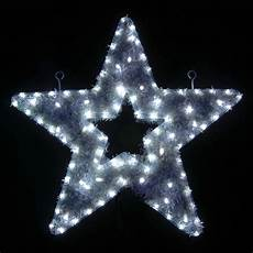white led tinsel christmas star flashing indoor outdoor xmas wall rope light ebay