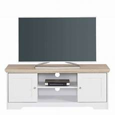 tv lowboard weiss 120 cm langes tv lowboard in wei 223 eiche landhaus look