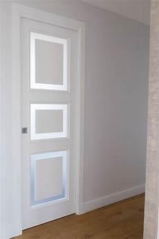 porte in vetro temperato porte bianche classiche con inserti in vetro temperato