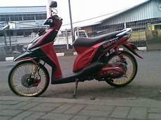 Modif Beat Karbu by Modifikasi Honda Beat Karburator Dengan Velg Ring 17 Jari