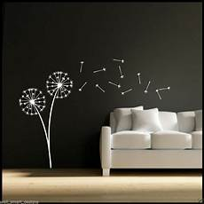 Sticker Stencils For Walls dandelion clock seeds wall decal sticker transfer stencil