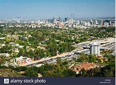 View Of Los Angeles From Brentwood California Stock Photo