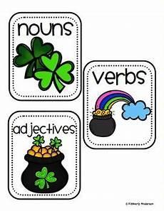 s day adjectives worksheets 20304 leprechaun st s day nouns verbs adjectives sort 3rd grade activities adverbs