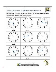 time worksheet quarter to 3155 clock worksheets quarter past and quarter to