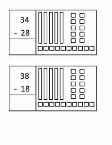 subtraction with regrouping worksheets with base ten blocks 10608 subtracting with regrouping task cards with base ten blocks by you ve got this