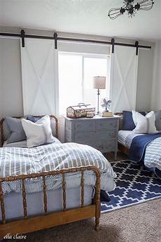 Bedroom Ideas For Guys With Big Rooms by Navy And Ticking Boys Room Home Projects We