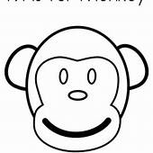 A Monkey Catching Letter M Coloring Page