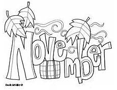 November Malvorlagen November Coloring Page Coloring Pages