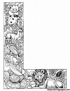 colouring pages for adults of animals letters 17309 l animal alphabet letters to print wonderful coloring pages http dailycoloringpages