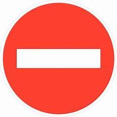 Panneau De Signalisation D Interdiction B1 Sens